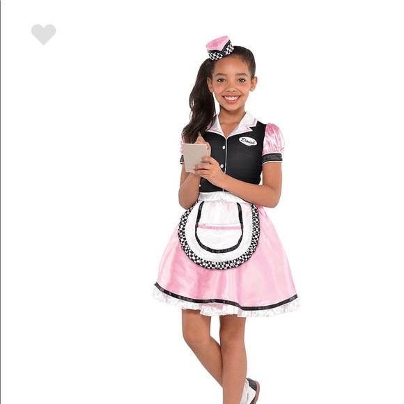 Party City Costumes Girls Dinah Girl Waitress Costume Poshmark